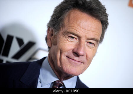 Bryan Cranston attends the 55th New York Film Festival with the 'Last Flag Flying' world premiere at Alice - Stock Image