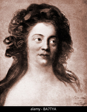 Schlegel, Dorothea Friederike, 24.10.1763 - 3.8.1839, German author / writer, portrait, after painting by Anton - Stock Image