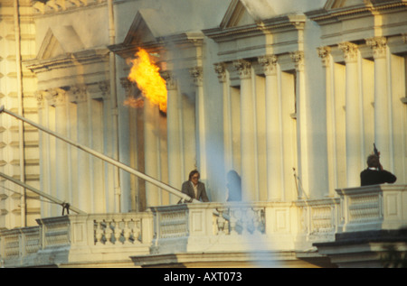 Iranian Embassy siege May 5th 1980 London UK 1980s UK Circa 1985 HOMER SYKES - Stock Image