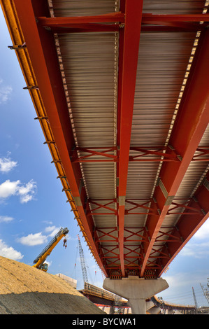 Highway infrastructure construction, I-95, New Haven, Ct. - Stock Image