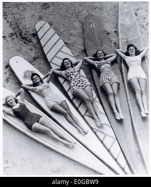 Surf sirens, Manly beach, New South Wales, 1938-46 - Stock Image