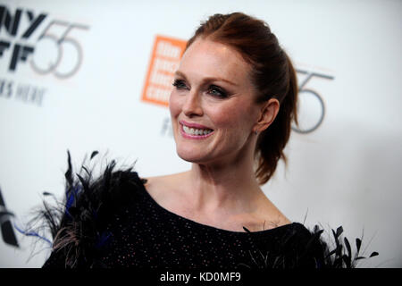 Julianne Moore attends the 'Wonderstruck' premiere during the 55th New York Film Festival at Alice Tully - Stock Image
