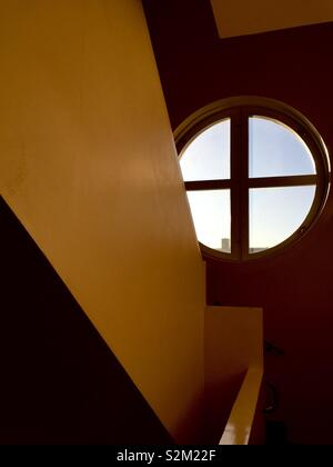 Stairwell and window - Stock Image