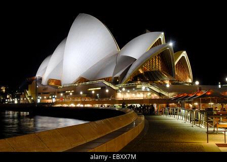 Sydney Opera House at night, Australia, New South Wales, Sydney - Stock Image