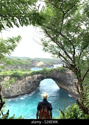 Broken beach , nusa penida - Stock Image