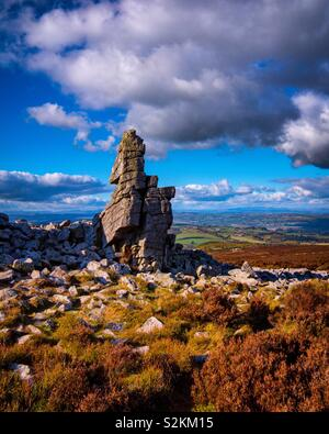 The Stiperstones Rock formation in the Shropshire Hills England UK - Stock Image