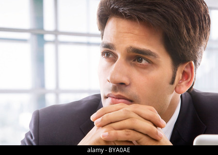 Businessman thinking - Stock Image