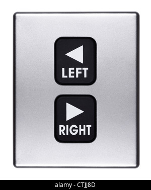 Left and Right buttons - Stock Image