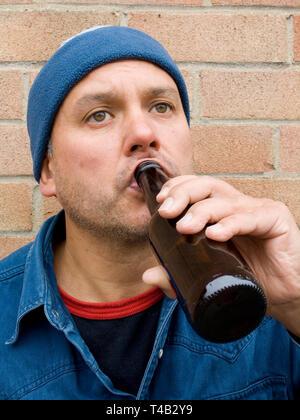 Boire de la bière de l'homme - Image