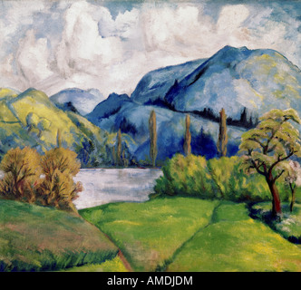 fine arts, Cezanne, Paul, (1839 - 1906), painting, Kunsthaus Zürich, French, impressionsm, nature, tree, trees, - Stock Image