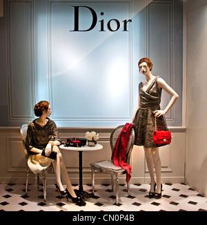 Dior Le Bon Marché Paris France Fashion department store - Stock Image