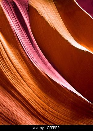 Smooth Canyon Walls - Stock Image