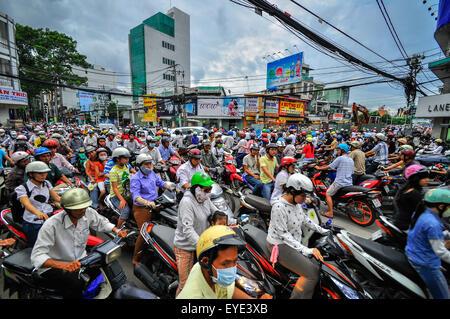 Saigon, Vietnam - June 15: Road Traffic on June 15, 2011 in Saigon (Ho Chi Minh City), Vietnam. Ho Chi Minh is the - Stock Image