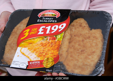 Bernard Matthews turkey escalopes value pack - Stock Image