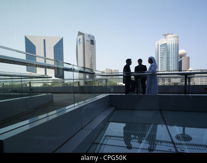 Business persons talking - Stock Image
