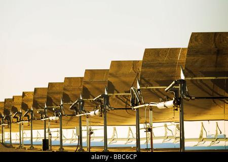 Solar electric generating plant - Stock Image