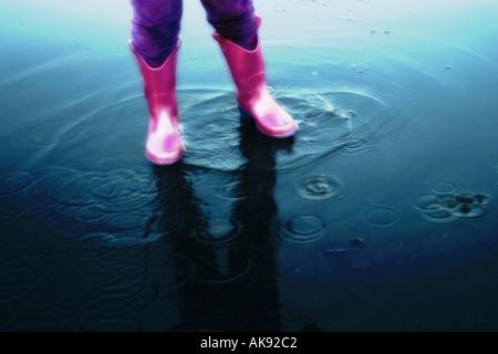 puddle - Stock Image