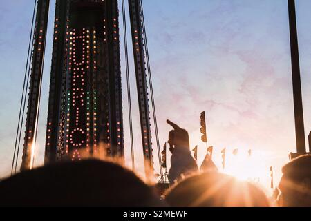 Beautiful Sunset At Festival - Stock Image