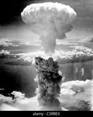 Atomic bombing of Nagasaki on August 9, 1945. - Stock Image