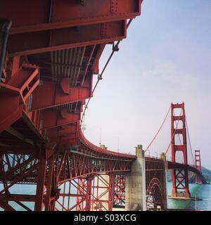 South side of Golden Gate Bridge. - Stock Image