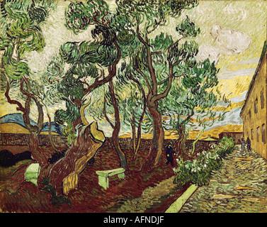 'fine arts, Gogh, Vincent van, (1853 - 1890), painting, 'le jardin de la maison des alines de Saint Remy', ('the garden of Sa - Stock Image
