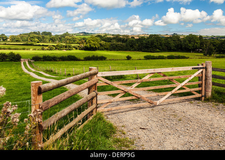 The rolling Welsh countryside in the Brecon Beacons National park near Pencelli. - Stock Image
