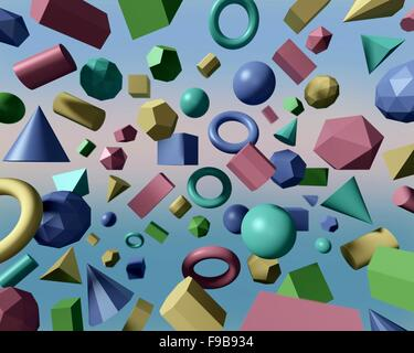 Une variété de formes géométriques, y compris les polyèdres et non-polyèdres - Image