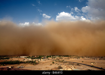 A sandstorm is seen in Eritrea near the Sudanese border. - Stock Image