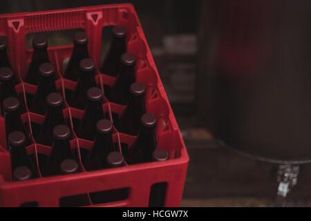 Bouteilles de bière en caisse - Image