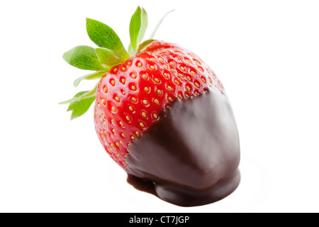 strawberry dipped in chocolate - Stock Image