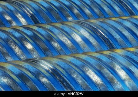 Metal culverts, Manitoba, Canada. - Stock Image