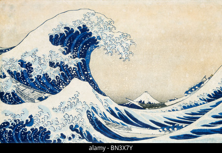 The Great Wave, by Katsushika Hokusai. Japan, 19th century - Stock Image
