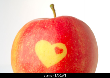 Apple with decorative heat form - Stock Image