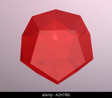 dodécaèdre en verre de synthèse, l'un des 5 types d'archives de solides platoniques image d'archive