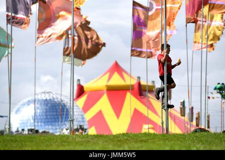 Dorset, UK. 27th July, 2017. Camp Bestival opens, Dorset, UK Credit: Finnbarr Webster/Alamy Live News - Stock Image