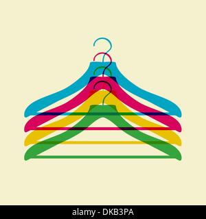 clothes hanger - Stock Image