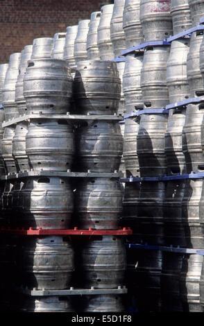 Royaume-Uni, fûts de bière. - Image de l'éditeur