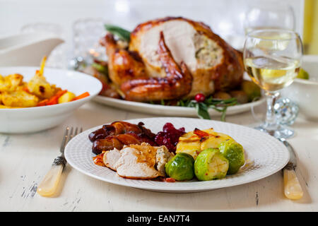 Christmas dinner - Stock Image