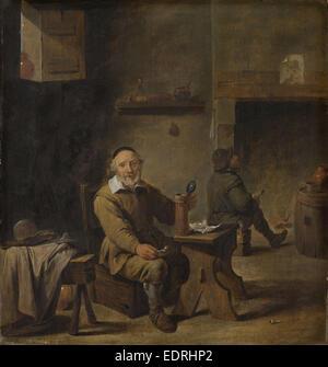 Le vieux buveur de bière, copie d'après David Teniers (Ii), 1640-1660 - Image