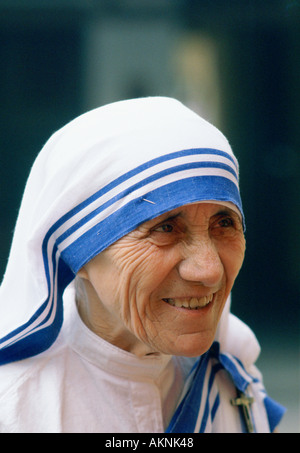 Mother Teresa of Calcutta India - Stock Image