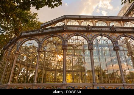 Crystal Palace at Madrid Spain - Stock Image