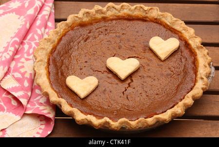 Homemade Pumpkin Pie! - Stock Image