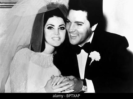 PRICILLA PRESLEY & ELVIS PRESLEY WIFE & HUSBAND (1967) - Stock Image