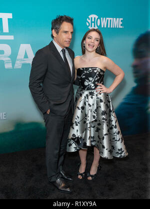 New York, United States. 14th Nov, 2018. Ben Stiller and Ella Olivia Stiller attend the Showtime Series Premiere of Escape At Dannemora at Alice Tully Hall Lincoln Center Credit: Lev Radin/Pacific Press/Alamy Live News - Stock Image