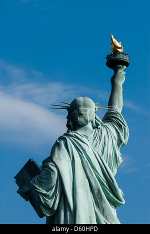 Backside of the Statue of Liberty, Liberty Island, New York City, New York, United States of America, USA - Stock Image