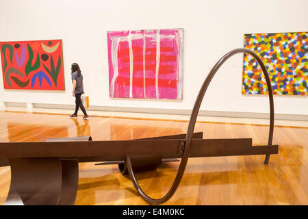 Brisbane Australia Queensland South Brisbane Cultural Centre center Queensland Art Gallery paintings sculpture inside - Stock Image