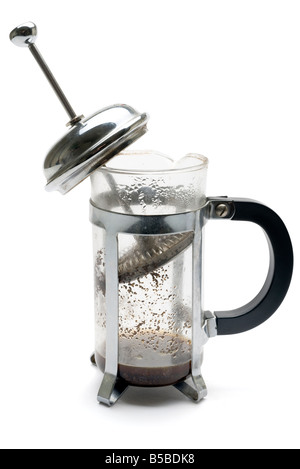 Used and empty coffee cafetiere - Stock Image