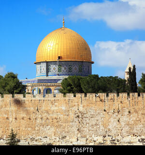 Al-Aqsa Mosque on Temple Mount of Old City, Jerusalem - Stock Image