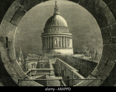 ST. Paul London, 1878 - Stock Image