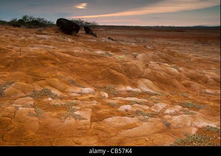Desert landscape in Sarigua national park, Herrera province, Republic of Panama. - Stock Image